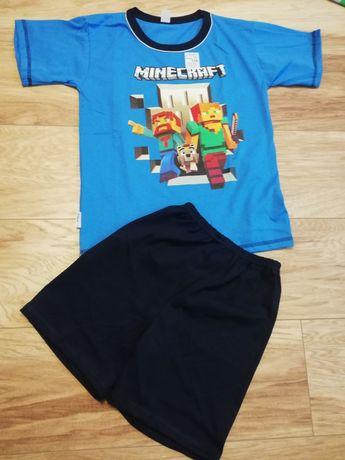 Piżama Minecraft r 134, 140, 146 krótki rękaw