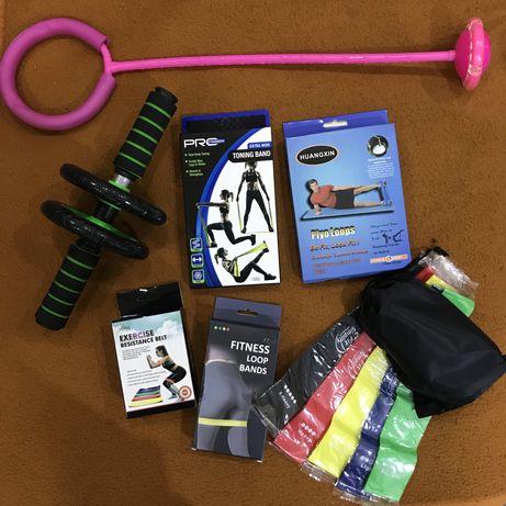 Ролик скакалка для спорта фитнес резинки эспандер