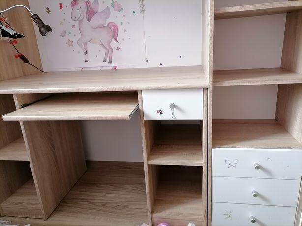 Łóżko pietrowe  biurko i szafa /3w1