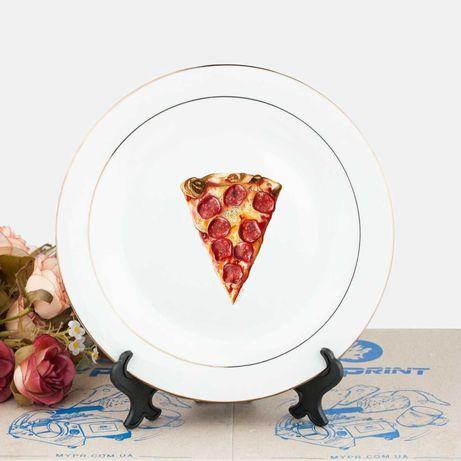 Тарелки 25см, красивые обеденные терелки, рисунки на тарелке