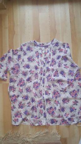piekna kwiecista koszula w rozmiarze 52