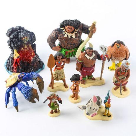 Игровой набор Моана / Moana Figure Play Set, 10 штук Под