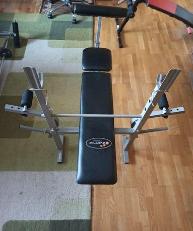 Ławeczka do ćwiczeń, regulowana + ławeczka do brzuszków + ciężarki