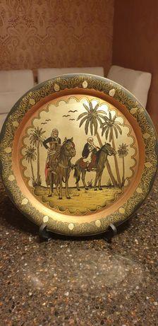 тарелка декоративная,  тунис, диаметр 35см