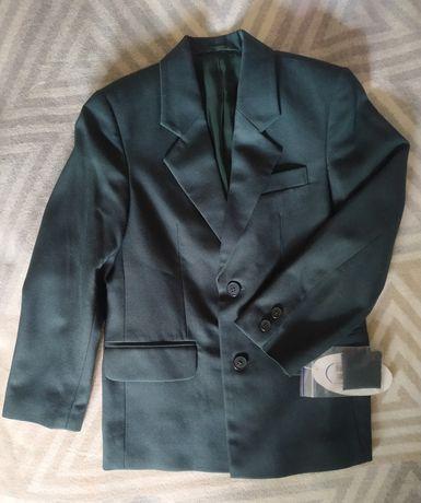 Пиджак зеленый на две пуговицы Юность 709