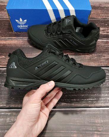 Черные кроссовки Adidas Terrex осенние 40 41 42 43 44 Адидас