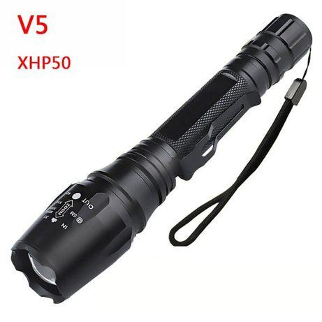 Lanterna LED Cree XHP50.2 com Zoom em alumínio
