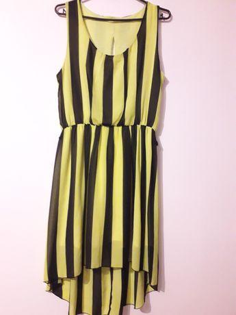 Sukienka czarno zolta neon M