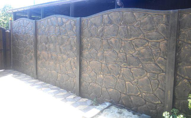Забор, Еврозабор, Бетонный секционный