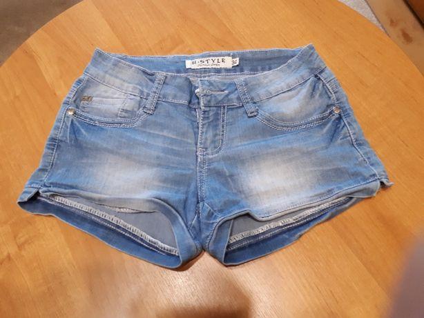 Krótkie spodenki jeans r.XS