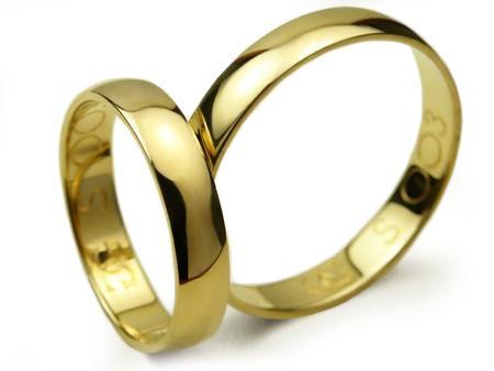 Goldrun Złote Obrączki Ślubne 4mm 333 Para Bezszwowe