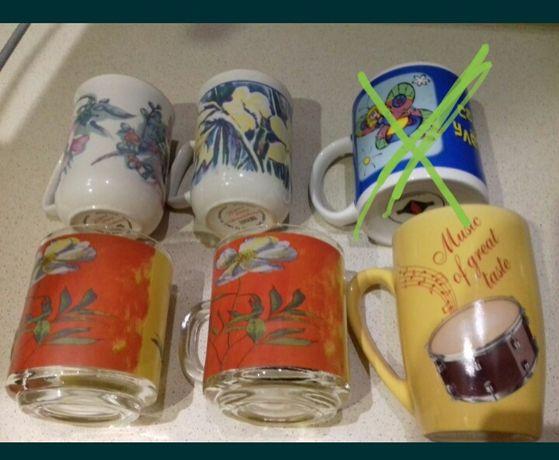 Чашки керамика стекло б.у и новые