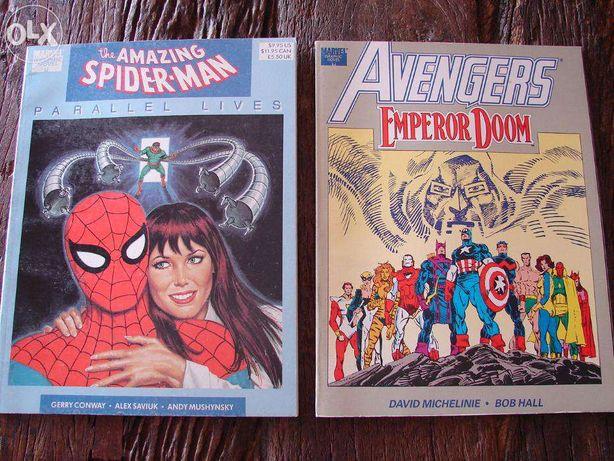 Marvel Graphic Novels Vingadores e Homem-Aranha