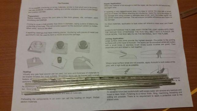 Varetas soldar alumínio a baixa temperatura tipo durafix