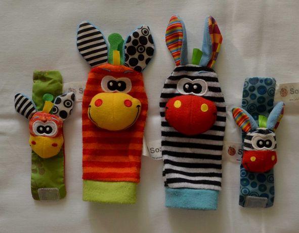 Носочки и браслеты-погремушки шуршалки Sozzy