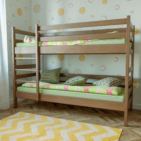 """Ліжко двоярусне """"Сосновий Бір"""" 900*2000 натуральне дерево"""
