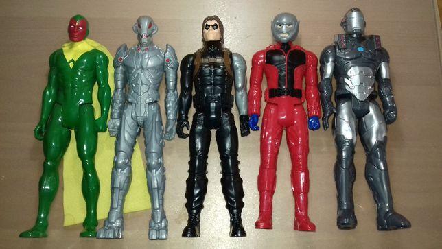 5 bonecos War Machine, Homem Formiga, Ultron, Vision e Soldado Inverno