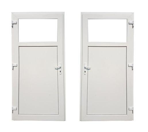 Drzwi zewnętrzne PCV 100x200 białe różne rozmiary od ręki TRANSPORT