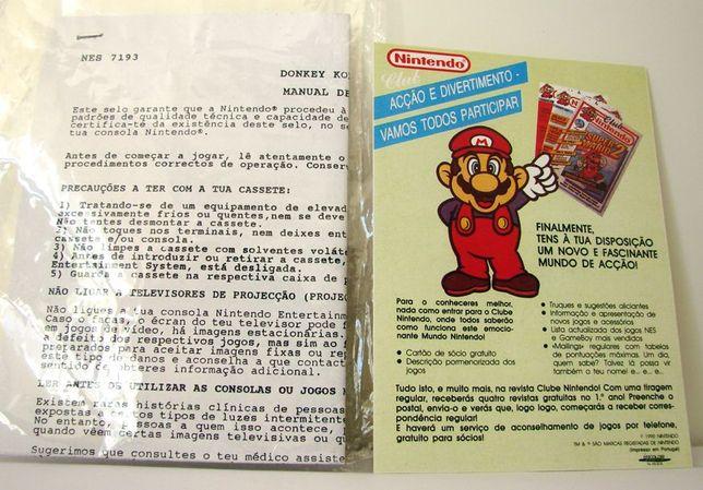 Instruções Português Donkey Kong Classics