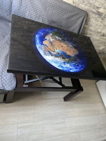 Продам стол- транформер , верх -стекло