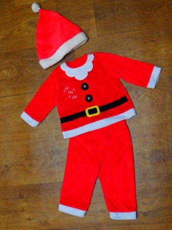 карнавальный костюм 9-12 мес Санта George новогодний мальчику