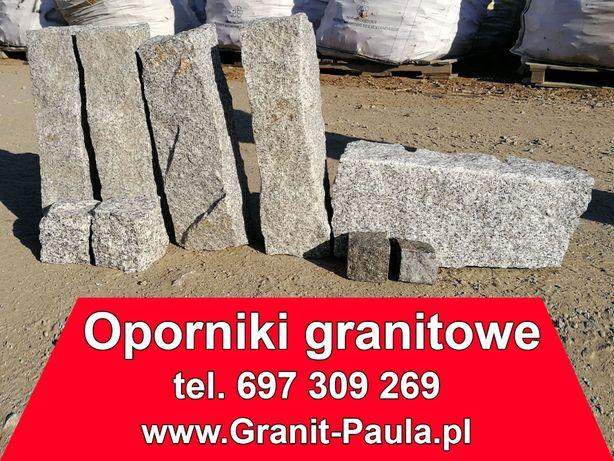 Opornik granitowy, Obrzeża, Krawężnik, palisada - Oporniki granitowe.
