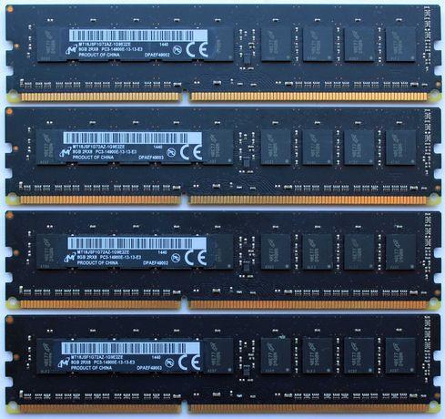 Оригинальная память Apple Mac Pro 32GB (4x8GB) PC3-14900E DDR3 EСС