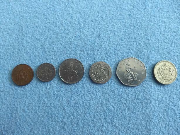 Коллекция монет В-Британии, 1983-1995, XF