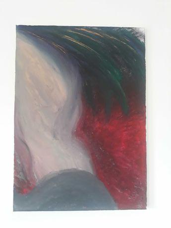 obraz abstrakcja malowany ręcznie nowoczesna sztuka