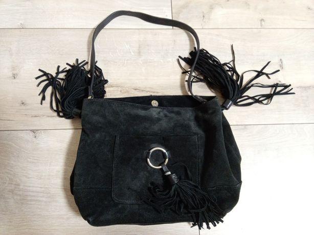 Продам женскую сумку Zara. Черный замш. Снижена цена
