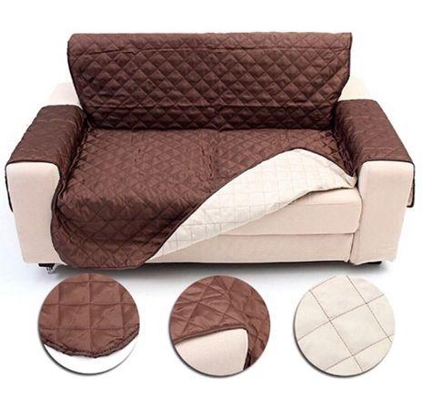 Capa de sofá dois lugares reversível