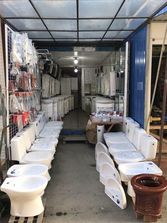 Унітази,біде,ванни,тумби з умивальником та душові кабіни