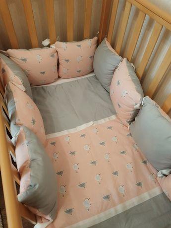 Бортики в кроватку, плюс одеяло и карман