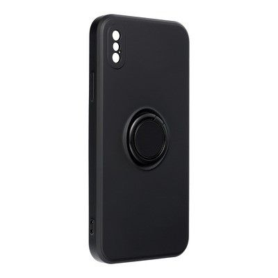 Capa Silicone Traseira Forcell Ring Case Iphone X Preto
