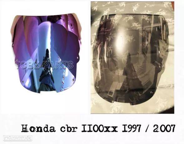 Viseira cbr1100xx 1997 até2007 frontal honda briseira vidro bolha rr