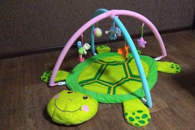 Игровой коврик, развивающийся коврик + подарок 10 игрушек.