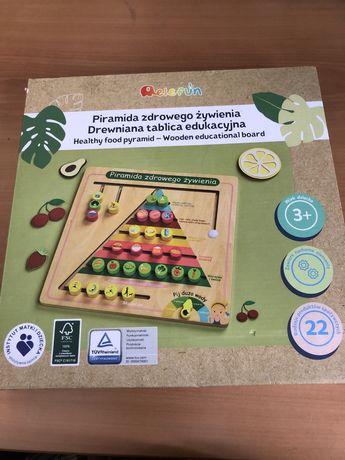 Pitamida zdrowego żywienia drewniana