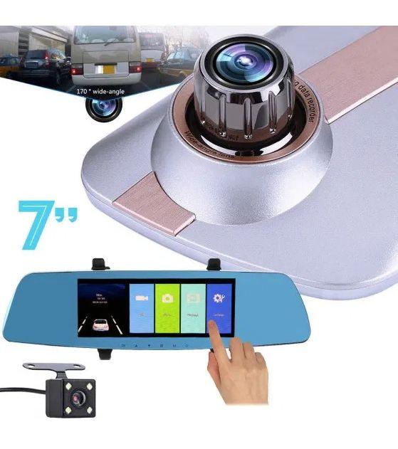 Видеорегистратор-зеркало сенсорный, 7 дюймов, 2 камеры, L1003M Одесса - изображение 1