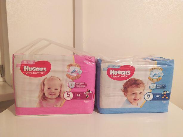 Подгузники Huggies Ultra Comfort 5 12-22 кг 84 шт 42*2 мальчик девочка