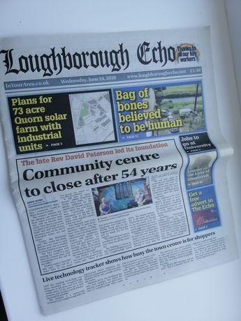 Газета на английском Loughborough Echo