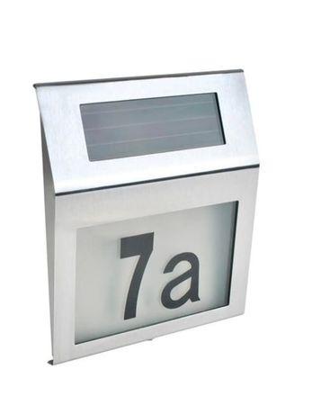 Podświetlany numer domu lampa solarna