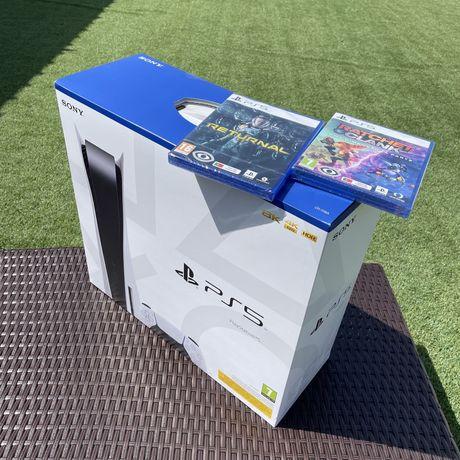 Playstation 5 - 2 Jogos 1 Comando Nova