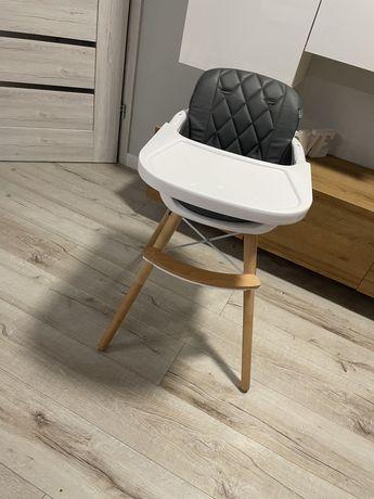 Krzeselko do karmienia szare skandynawskie krzeslo