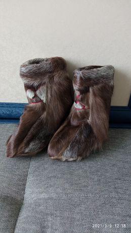 Ботинки зимние (сапоги, унты, кисы) ИЗ оленьей шкуры!!!