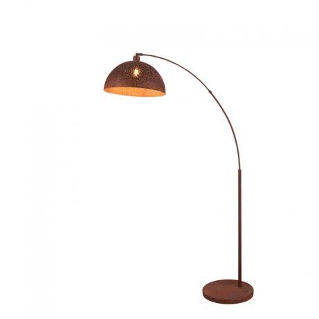 Lampa stojąca Globo Celine industrialna 180cm brązowa metal z rdzą