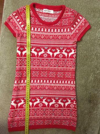 Модный принт.H&M тплатье,6-7-8 лет