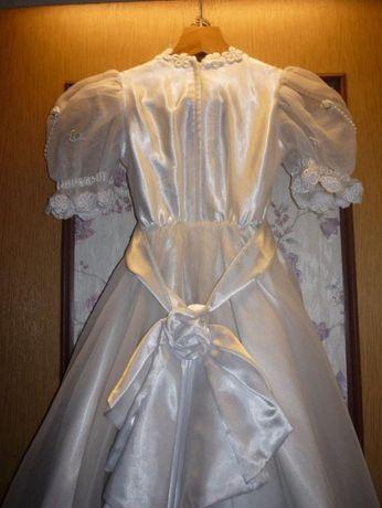 sukienka komunijna na bal + dodatki