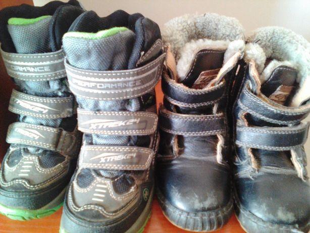 продам две пары зимней детской обуви,ботинок