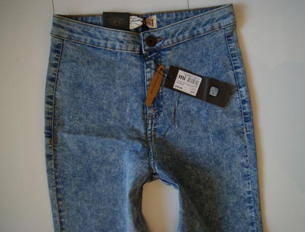 Roz. 38 10uk Firetrap Nowe Spodnie Jeans Blue Skinny Slim Leg