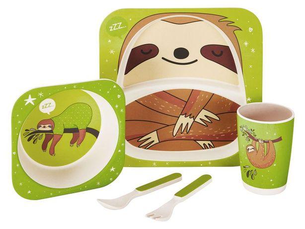 Набор детской посуды из бамбукового волокна